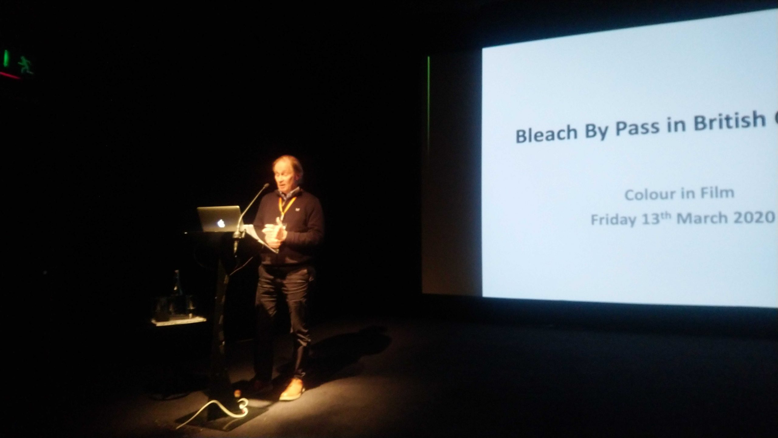 Paul Collard, the BFI speaker, presenting at Colour in Film 2020